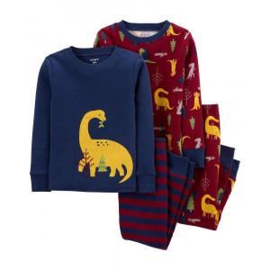 Пижама Carters Dinosaur Burgundy