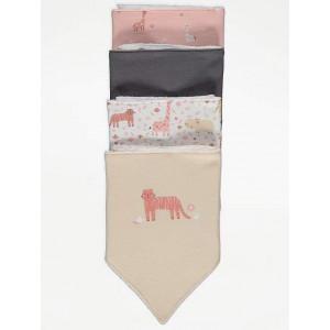 Слюнявчики 4-шт George Pink Safari