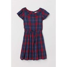 Платье с коротким рукавом HM Клетка